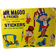 1979 Mr Magoo & Friends Puffy Stickers