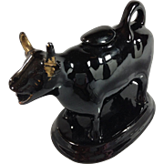 1800s Jackfield English Cow Creamer