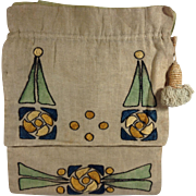 Arts & Crafts Linen Purse