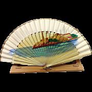 Hand Painted Seaside on Folding Fan
