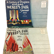 Chicago. World's Fair 1933/34 - Series 1&2 Postcard Folders