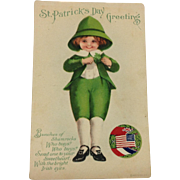 Wolf St. Patrick's Day Post Card