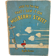 '37 1st Ed. 7th Printing Seuss