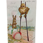 1908 Embossed IAPC Easter Wishes