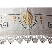 Linen Mantle Scarf Arts & Crafts