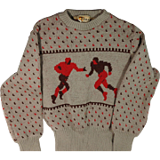 1940s Jersild Wool Football Sweater
