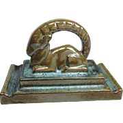 American Encaustic Tiling Co. LTD Ram Paperweight