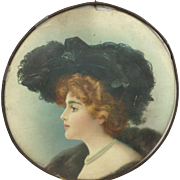 Victorian Lady Flue Cover