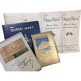 1936 RMS Queen Mary Ephemera