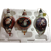 Porcelain Ornament Trio