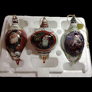 Porcelain Ornament Trio