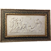 Goddess Diana Framed Marble Plaque