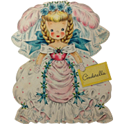 1947 Cinderella Paper Doll by Hall Bros.