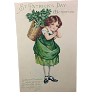Basket of Shamrocks: Unused Postcard