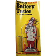 W C Fields Battery Tester
