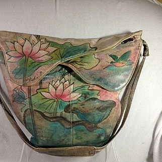 Artist Painted Leather Handbag