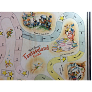 Framed Walt Disney Fantasyland Gameboard