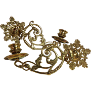 Brass Wall Sconces: Art Nouveau