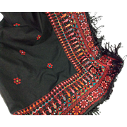 Embroidered Triangular Scarf