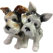 German Porcelain Scotty Dogs