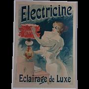 Lithograpgh: Electricine Eclairage de Luxe by LeFevre