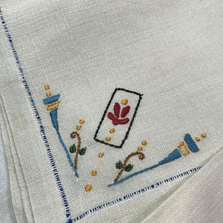 Hand Embroidered Table Linens
