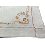 Art Nouveau Linen Table Cloth
