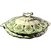 J & G Meakin English Transferware Covered Vegetable Dish
