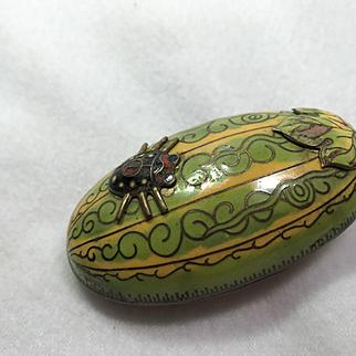 Watermelon Cloisonne Box
