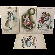 Children At Christmas / 4 Postcards