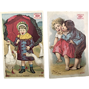 Pair: Pearline Soap Ad Cards