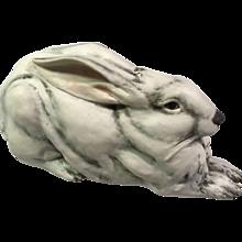 E & R Italy Golden Crown Porcelain Rabbit