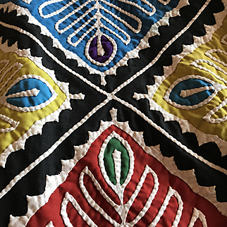 Lg. Hmong Hand Stitched Quilt