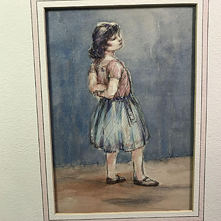 Thoughtful Pose:  Watercolor