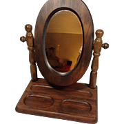 Wood Frame Shaving / Vanity Mirror