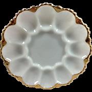 1950's Anchor Hocking Milk Glass Egg Plate Original Box
