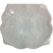 Anchor Hocking Milk Glass Grape Bowl