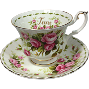 June Roses Royal Albert Cup / Saucer