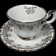 Royal Albert Silver Anniversary Cup/Saucer