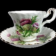 Royal Albert Highland Thistle English Bone China Cup & Saucer