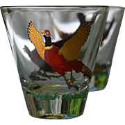 Hazel Atlas Pheasant Whiskey Glassware 7 Piece Set
