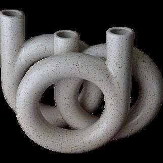 Mid-Century Toyo Ikebana Geometric Vase