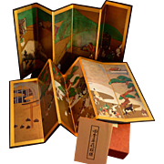 Miniature Byobu Japanese Folding Screens