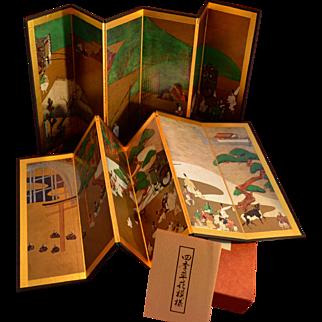 Miniature Byobu Japanese Folding Screens