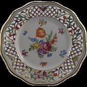 Schumann Bavaria Reticulated Porcelain Plate