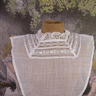 Antique original French plastron for your fashion doll or Bébé