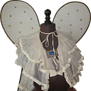Vintage wired angel wings appr. 1920 from Belgium