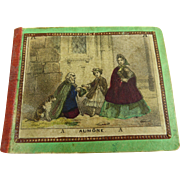 Extremely rare antique original French hand- colored engravings in a beautiful booklet for your early doll or fashion doll appr. 1840