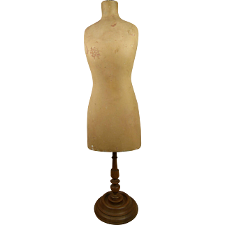 Rare antique early elegant miniature French pressed carton and painted Doll Mannequin appr. 1880.