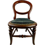 Antique original Early Victorian Mahogany doll chair, mid-nineteenth century